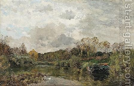 Au Bord De La Riviere by Edmond Charles Joseph Yon - Reproduction Oil Painting