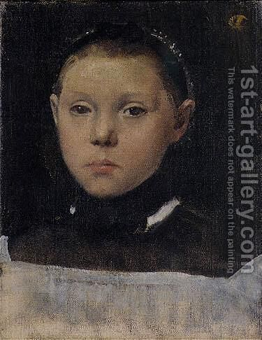 Portrait De Giulia Bellelli (Mme Mauri) by Edgar Degas - Reproduction Oil Painting