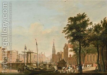 Halvemaans Bridge And The Munt In The Background by Amsterdam School - Reproduction Oil Painting