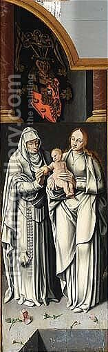 Madonna and child with St.Anne by (after) Barthel The Younger Bruyn - Reproduction Oil Painting