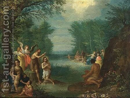 The Baptism Of Christ by Jacob Andries Beschey - Reproduction Oil Painting