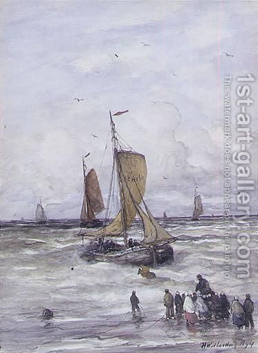 Ships At Sea by Hendrik Willem Mesdag - Reproduction Oil Painting
