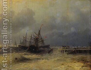 The Rescue 3 by Ivan Konstantinovich Aivazovsky - Reproduction Oil Painting
