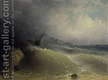 The Shipwreck 7 by Ivan Konstantinovich Aivazovsky - Reproduction Oil Painting