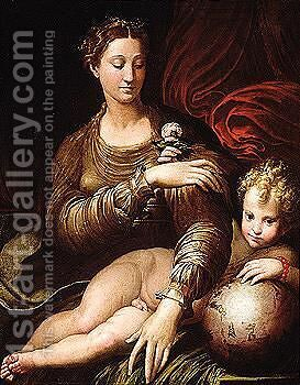 A 17th Century Copy After Parmigianino's Original In The Gemaldegalerie, Dresden by (after)  Girolamo Francesco Maria Mazzola (Parmigianino) - Reproduction Oil Painting