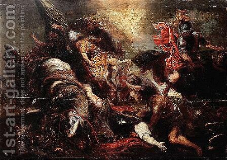 A Copy, In Reverse, After Rubens' Original Destroyed In Dresden In 1945 v by (after) Sir Peter Paul Rubens - Reproduction Oil Painting