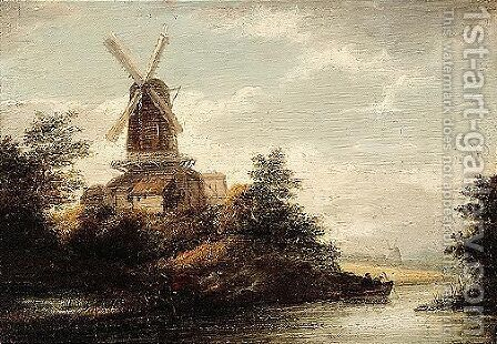 A Later Copy, In Reverse, Based Upon A Painting By Ruisdael Formerly With Robert Noortman, London by Jacob Van Ruisdael - Reproduction Oil Painting