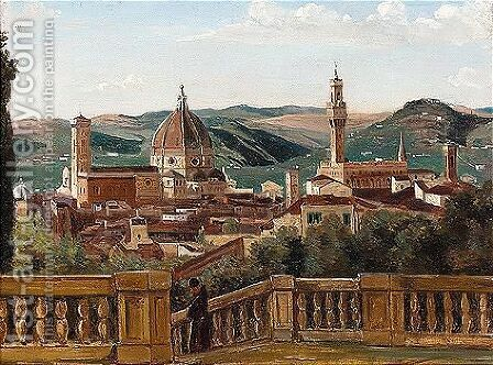 Prospect of the city of Florence by Italian School - Reproduction Oil Painting
