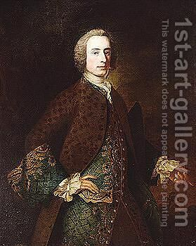 Portrait of a gentleman by (after) Hudson, Thomas - Reproduction Oil Painting