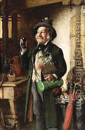The Botanist by Hermann Kern - Reproduction Oil Painting