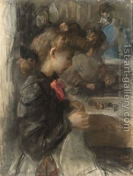 At The Sewing Studio Of Paquin, Paris by Isaac Israels - Reproduction Oil Painting