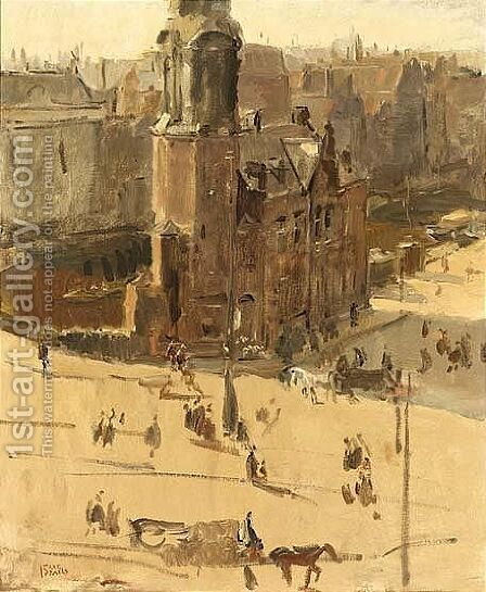 A View Of The Muntplein by Isaac Israels - Reproduction Oil Painting
