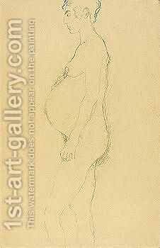 Female nude by Gustav Klimt - Reproduction Oil Painting