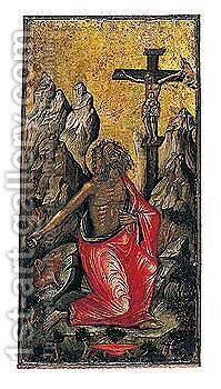 Saint Jerome In The Wilderness by Angelos Bitzamanos - Reproduction Oil Painting