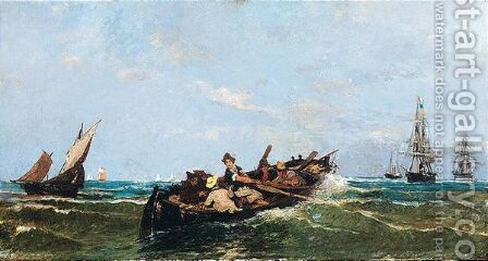 Off To Shore by Constantinos Volanakis - Reproduction Oil Painting