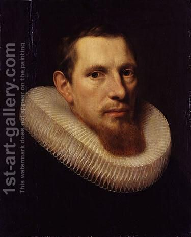 Portrait of a young man by (after) Adriaen Thomas Key - Reproduction Oil Painting