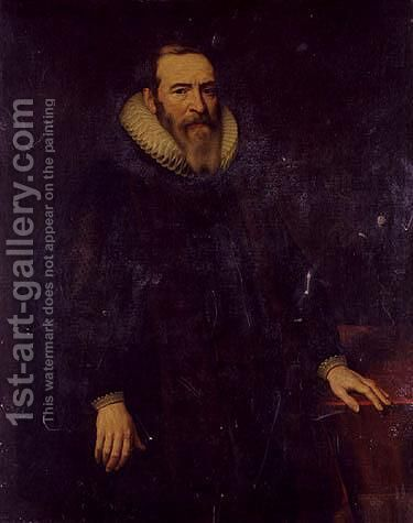 Portrait of a man 2 by Dutch School - Reproduction Oil Painting