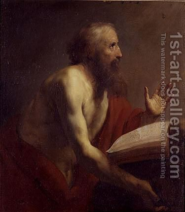 Saint Jerome by (after) Claude Vignon - Reproduction Oil Painting
