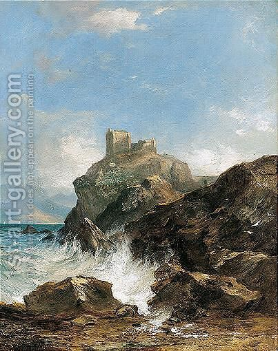 Stormy Seas by Horatio McCulloch - Reproduction Oil Painting