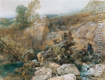 Shooting In The Highlands by James Duffield Harding - Reproduction Oil Painting