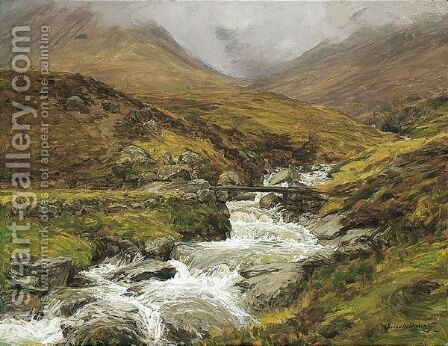A Highland Spate by Alexander Brownlie Docharty - Reproduction Oil Painting