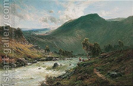 The River Dee by Alfred de Breanski - Reproduction Oil Painting