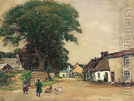 Playing In The Street by Alexander Brownlie Docharty - Reproduction Oil Painting