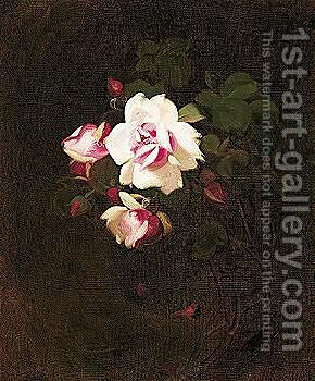 Pink Roses 3 by James Stuart Park - Reproduction Oil Painting