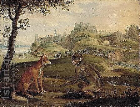The Fox And The Monkey by Isaak van Oosten - Reproduction Oil Painting