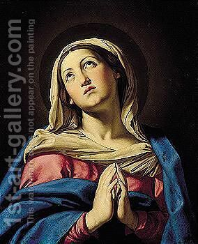 The Virgin In Prayer 4 by Giovanni Battista Salvi, Il Sassoferrato - Reproduction Oil Painting