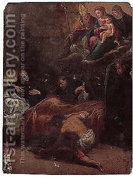 The Death Of Saint Dominic by Ippolito Scarsella (see Scarsellino) - Reproduction Oil Painting