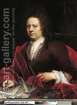 Portrait of an artist by (after) Godfried Schalken - Reproduction Oil Painting