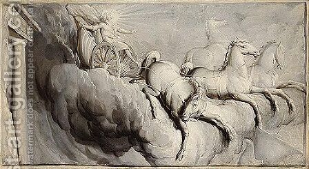 The fall of phaeton by (after) Nicolas Bertin - Reproduction Oil Painting