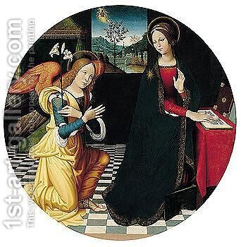 The Annunciation by Antonio Rimpatta - Reproduction Oil Painting