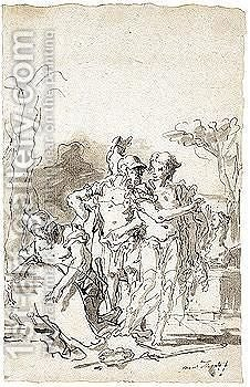 Rinaldo And Armida by Giovanni Domenico Tiepolo - Reproduction Oil Painting