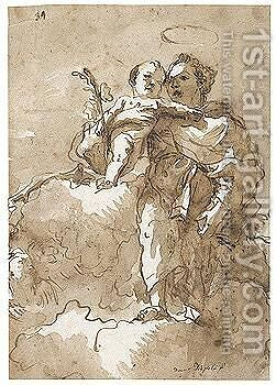 St. Anthony And The Christ Child by Giovanni Domenico Tiepolo - Reproduction Oil Painting