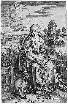 Virgin and child 2 by Albrecht Durer - Reproduction Oil Painting