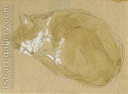 Cat Sleeping by Gwen John - Reproduction Oil Painting