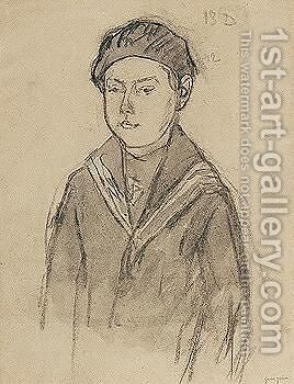 Boy Wearing A Sailor's Uniform by Gwen John - Reproduction Oil Painting