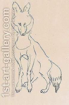 Fox 2 by Henri Gaudier-Brzeska - Reproduction Oil Painting