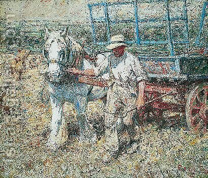 The Haycart by Harry Fidler - Reproduction Oil Painting