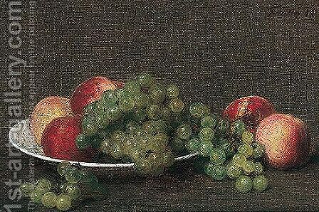 Still life by Ignace Henri Jean Fantin-Latour - Reproduction Oil Painting