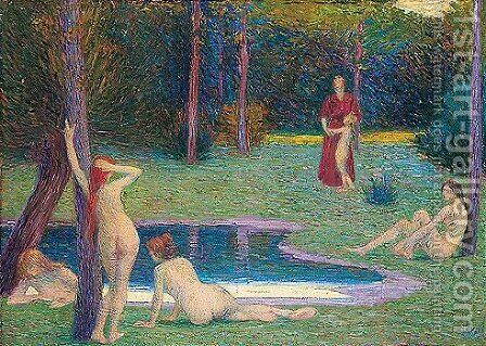 Bathers by Hippolyte Petitjean - Reproduction Oil Painting