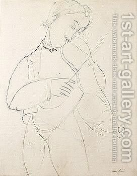 Musician by Amedeo Modigliani - Reproduction Oil Painting