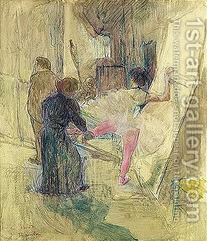 Dans La Coulisse by Toulouse-Lautrec - Reproduction Oil Painting