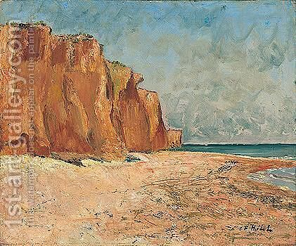 Roda Falaiser (Red Cliffs) by Carl Fredrik Hill - Reproduction Oil Painting