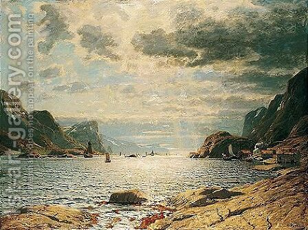 Over Fjorden (Across The Fjord) by Adelsteen Normann - Reproduction Oil Painting