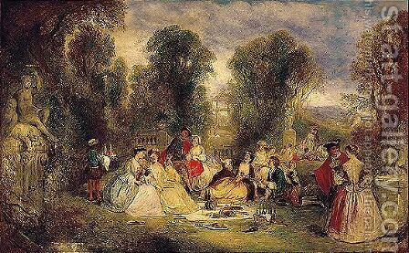 The Garden Party by Henry Andrews - Reproduction Oil Painting