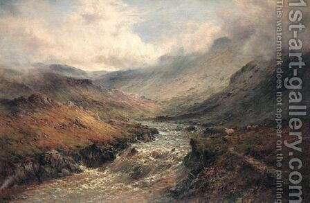 Glen Nevis by Alfred de Breanski - Reproduction Oil Painting