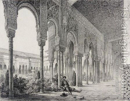 De l'Alhambra, ouvrage faisant suite a l'Atlas in-folio by Girault De Prangey - Reproduction Oil Painting